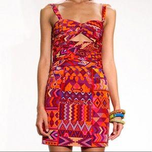 Mara Hoffman Orange Printed Mini Dress